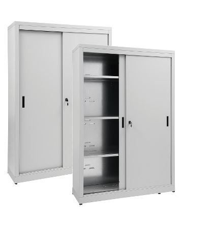 Aisi 304 2 puertas correderas de almacenamiento.