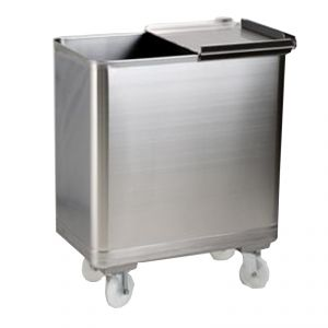 MC1010 trolley equipped stainless hopper - mm. 400X620XH700