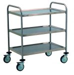 TEC1101 AISI 304 stainless steel Cart Technical 3 shelves 80x50x95h