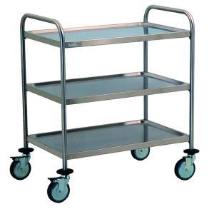 TEC1101 Carrello tecnico acciaio inox AISI 304 3 piani smontabile 80x50x95h