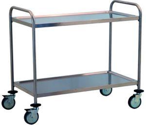 TEC1106 Carrito de acero inoxidable con dos estantes