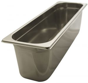 GST2/4P100 Gastronorm Container 2 / 4 h100 stainless steel AISI 304