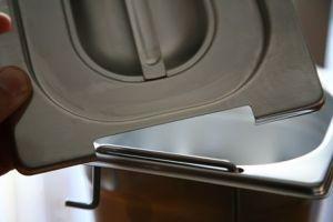CPR1/6M couvrent 1 / 6 en acier inox AISI 304 avec split poignées