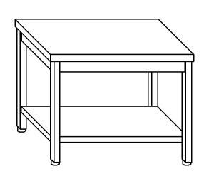 TL5243 Tavolo da lavoro in acciaio inox AISI 304 ripiano 70x70x85