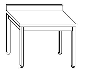 TL5296 Tavolo da lavoro in acciaio inox AISI 304 alzatina 120x70x85