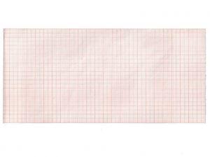 GI-32953 - Carta termica ECG 112x23 mmxm - rotolo griglia arancio
