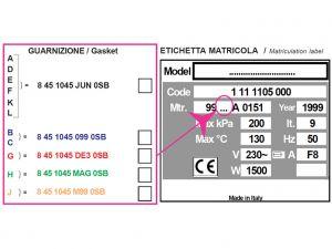 GI-35747 - GUARNIZIONE PER AUTOCLAVE H100, numero di serie A,D,E,F,K,L