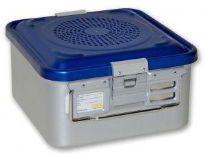 GI-37032 - CONTAINER CON FILTRO piccolo h150 mm - blu forato