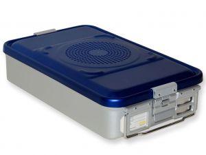 GI-37080 - CONTAINER CON FILTRO medio h100 mm - blu forato