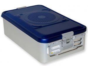 GI-37081 - CONTAINER CON FILTRO medio h135 mm - blu forato