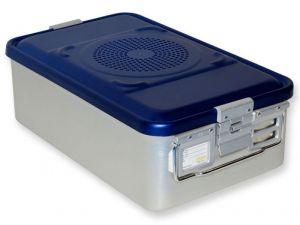 GI-37083 - CONTAINER CON FILTRO medio h200 mm - blu forato