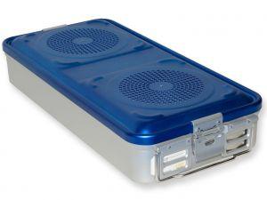 GI-37130 - CONTAINER CON FILTRO grande h100 mm - blu forato