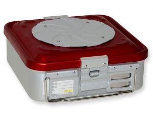 GI-37160 - CONTAINER CON VALVOLA piccolo h100 mm - rosso