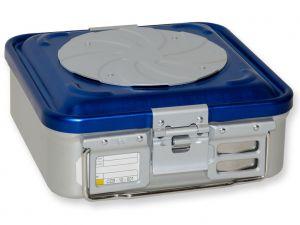 GI-37180 - CONTAINER CON VALVOLA piccolo h100 mm - blu forato