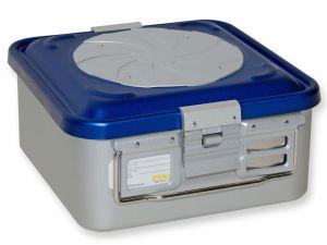 GI-37181 - CONTAINER CON VALVOLA piccolo h135 mm - blu forato
