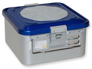 GI-37182 - CONTAINER CON VALVOLA piccolo h150 mm - blu forato