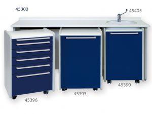 GI-45300 - PIANO DI LAVORO 180 cm - lavello a destra