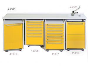 GI-45303 - PIANO DI LAVORO 234 cm - lavello a destra