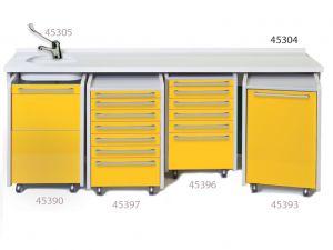 GI-45304 - PIANO DI LAVORO 234 cm - lavello a sinistra
