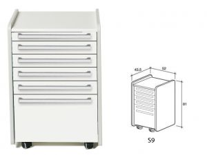 GI-45356 - CASSETTIERA S9 - bianca