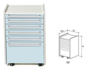 GI-45366 - CASSETTIERA S9 - azzurra