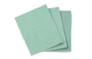 TCH603049 Panno Basic-T - Colore Bianco-Verde - 20 Confezioni da 10 pezzi