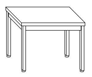 TL5002 Tavolo da lavoro in acciaio inox AISI 304 60x60x85