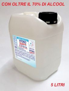 T799052-TAN5 Gel igienizzante mani TANICA 5 LITRI base idralcolica oltre il 70% con scheda tenica