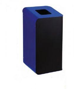 T789205 Gettacarte per la raccolta differenziata 80 litri - Blu