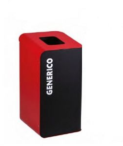 T789207 Gettacarte per la raccolta differenziata 80 litri - Rosso