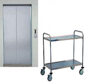 TEC1110 Carrello tecnico acciaio inox AISI 304 2 piani smontabile PICCOLO