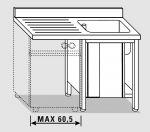 EU01902-14 lavatoio armadio per lavast. ECO cm 140x60x85h  1v e sg sx - porte scorrevoli
