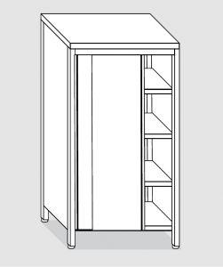 EU04208-14 armadio verticale ECO cm 140x60x180h porte scorrevoli - 3 ripiani regolabili