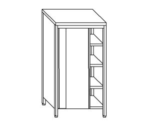 EU04305-11 armadio verticale ECO cm 110x70x200h porte scorrevoli - 3 ripiani regolabili