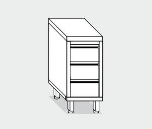 EU05517-04 cassettiera c3 ECO cm 40x70x85h piano liscio