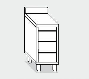 EU05527-04 cassettiera c3 ECO cm 40x70x85h piano alzatina