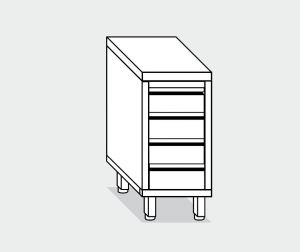 EU05537-04 cassettiera c4 ECO cm 40x70x85h piano liscio