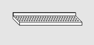 EU63901-16 ripiano a parete forato ECO cm 160x38x4h
