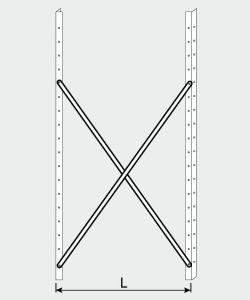 EU77009-11 crocera per scaffale ECO da cm 110
