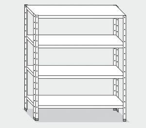 EU77263-13 scaffale con 4 ripiani lisci ECO cm 130x30x180h