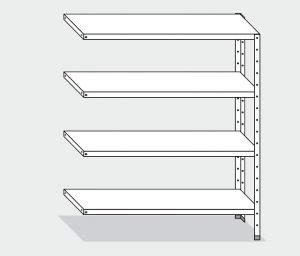EU77763-10 scaffale con 4 ripiani lisci ECO cm 100x30x180h kit laterale
