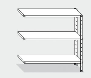 EU77965-13 scaffale con 3 ripiani lisci ECO cm 130x50x150h kit laterale