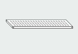 EU78065-16 ripiano forato per scaffale ECO cm 160x50x4h