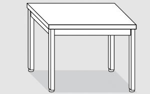 EUG2107-07 tavolo su gambe ECO cm 70x70x85h-piano liscio