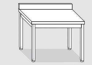EUG2116-14 tavolo su gambe ECO cm 140x60x85h-piano con alzatina