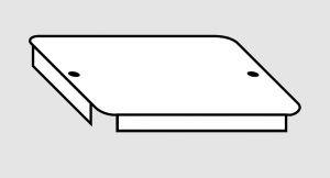 EU91010-05 Coperchio per vasca in acciaio inox dim. 50x40