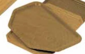 TAV 4587 Vassoio laminato teak Esagonale 52x34,5 cm