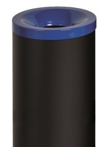 T770015 Gettacarte antifuoco corpo metallo nero coperchio Blu 50 litri