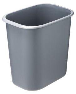 T114022 Gettacarte rettangolare polipropilene ignifugo 14 litri grigio