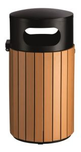 T110506 Gettacarte cilindrico da esterno 40 litri